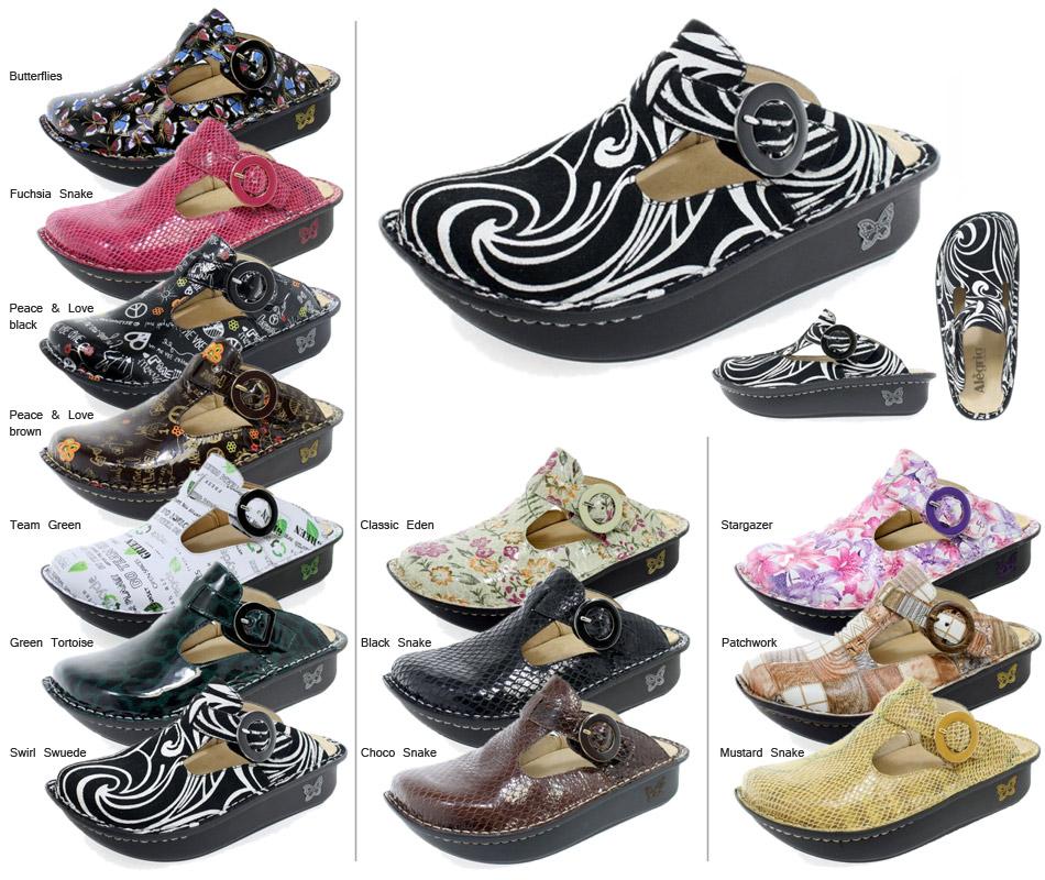 Alegria Women's Feliz Mary Jane Shoes Black Ditzy Size 40